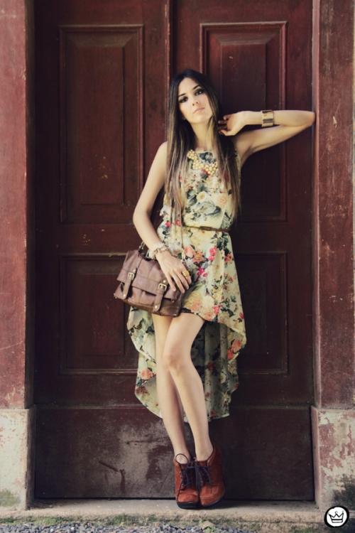 FashionCoolture 25.12.2012 Antix mullet dress pattern vestido floral Asos Kafé mix bracelets Rafaela Andrade (1)