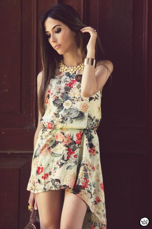 FashionCoolture 25.12.2012 Antix mullet dress pattern vestido floral Asos Kafé mix bracelets Rafaela Andrade (2)