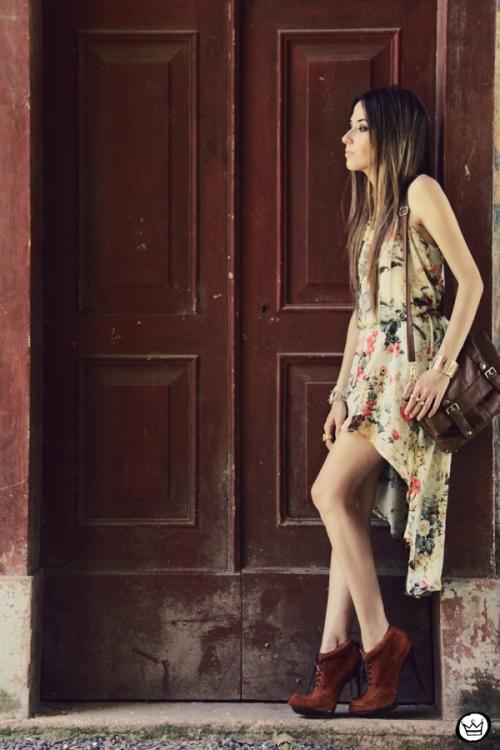 FashionCoolture 25.12.2012 Antix mullet dress pattern vestido floral Asos Kafé mix bracelets Rafaela Andrade (3)