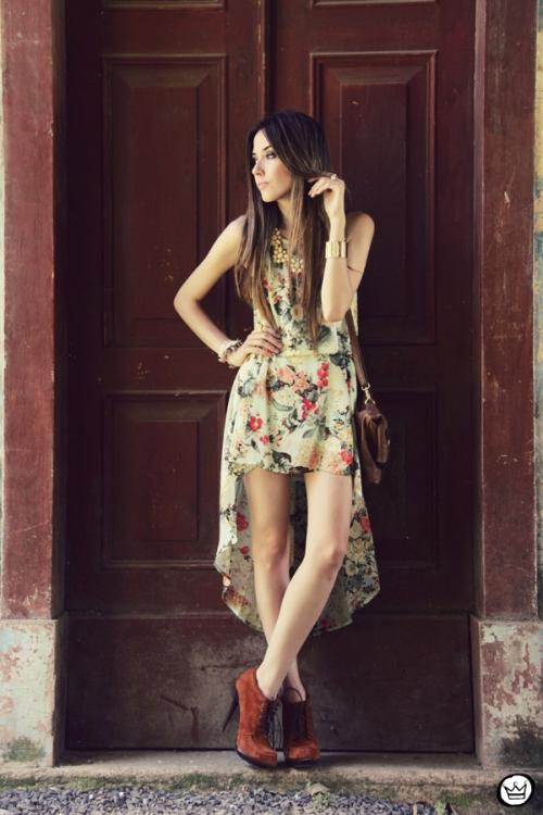 FashionCoolture 25.12.2012 Antix mullet dress pattern vestido floral Asos Kafé mix bracelets Rafaela Andrade (7)