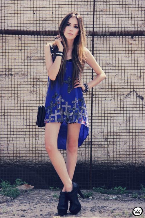 FashionCoolture - 26.12.2012 Labellamafia mullet cruz crucifixo blue Kafé Asos outfit look  (1)