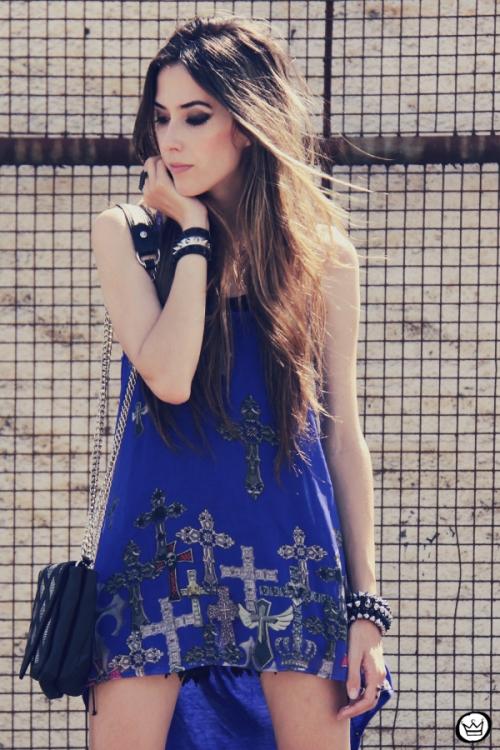 FashionCoolture - 26.12.2012 Labellamafia mullet cruz crucifixo blue Kafé Asos outfit look  (2)