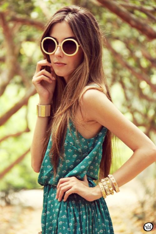 FashionCoolture 30.12.2012 dress Antix pattern green summer Kafé bracelets (2)