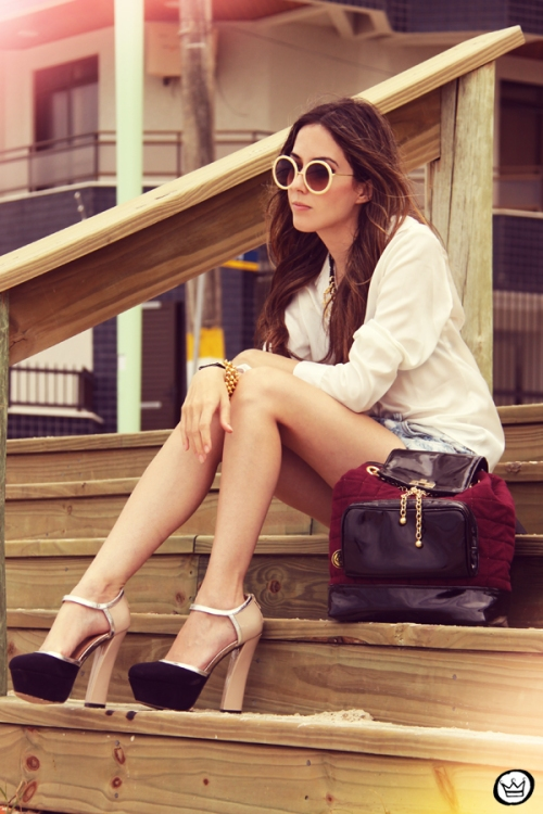FashionCoolture Catarina a Porter Itapema Gabriela Faraco Bruna Starling Ziann short jeans camisa branca (12)