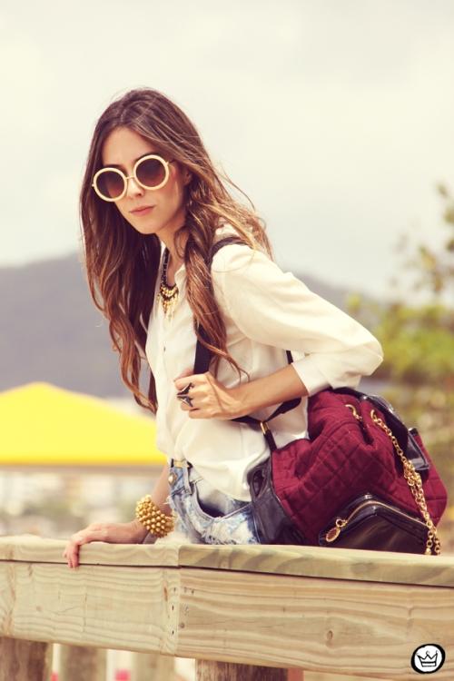 FashionCoolture Catarina a Porter Itapema Gabriela Faraco Bruna Starling Ziann short jeans camisa branca (2)