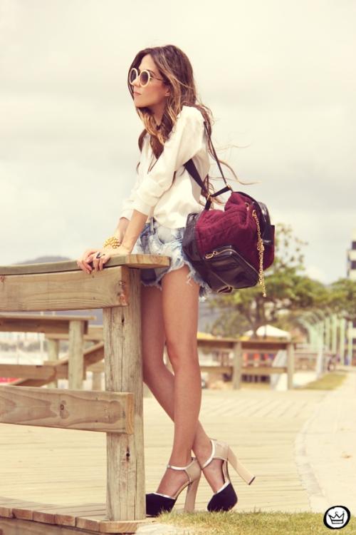 FashionCoolture Catarina a Porter Itapema Gabriela Faraco Bruna Starling Ziann short jeans camisa branca (6)