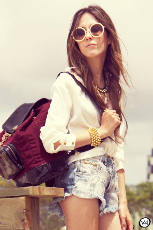 FashionCoolture Catarina a Porter Itapema Gabriela Faraco Bruna Starling Ziann short jeans camisa branca (7)