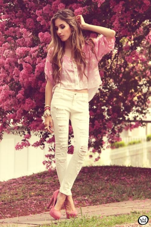 FashionCoolture - 17.02.2013 look du jour Labellamafia cross cropped white jeans destroyed Romwe Kafé] (7)