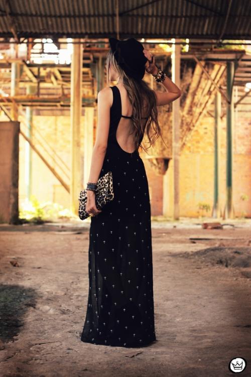 FashionCoolture 26.01.2013 - look du Jour Labellamafia body tachas Kafé spikes bracelets Timeless cross skirt  (5)
