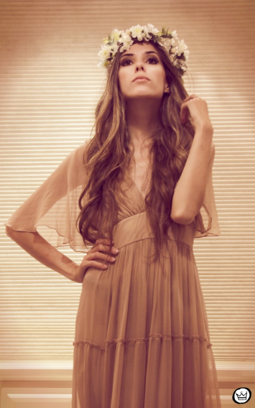 FashionCoolture - 26.01.2013 Romwe long dress vintage nude flowers  (3)