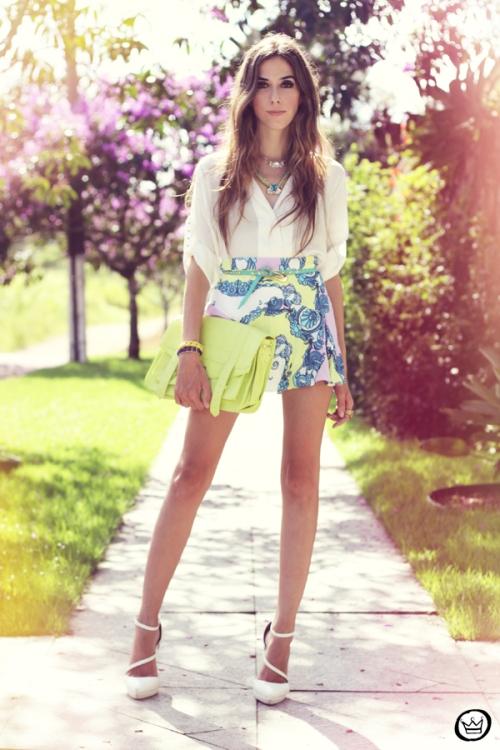 FashionCoolture - 16.02.2013 look du jour Xiquita Bakana Labellamafia  summer colours shirt blogger ... 0664188689d