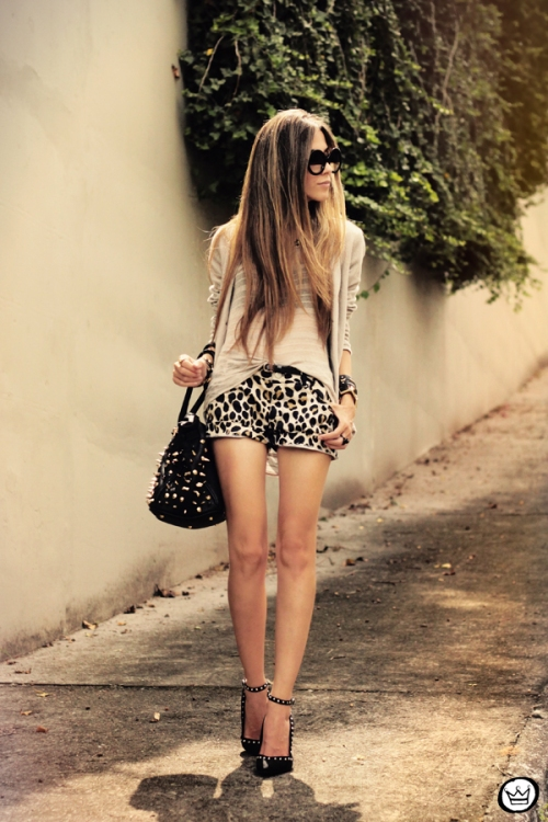 FashionCoolture - 27.02.2013 look du jour Denise Focil Astars leopard studded (1)
