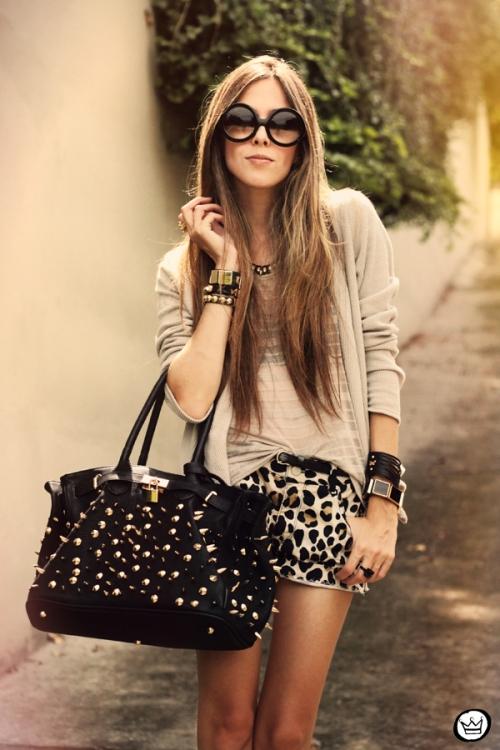 FashionCoolture - 27.02.2013 look du jour Denise Focil Astars leopard studded (2)