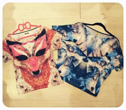 FashionColture tshirt Lobo wolf fox Triton Cookeluxe