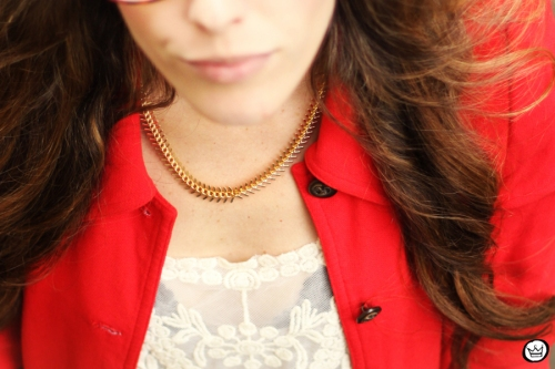 FashionCoolture 14.03.2013 look du jour lace goodnight macaroon red coat glasses blogger outfit fashion (3)