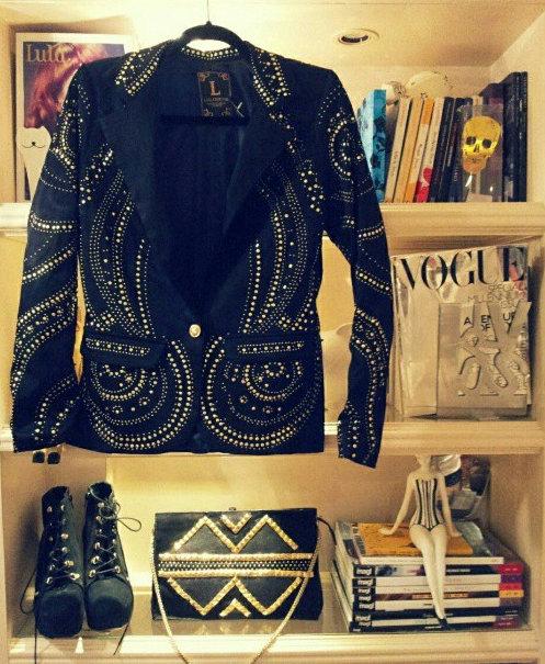 FashionCoolture Instagram Lança Perfume blazer inverno 2013 studded