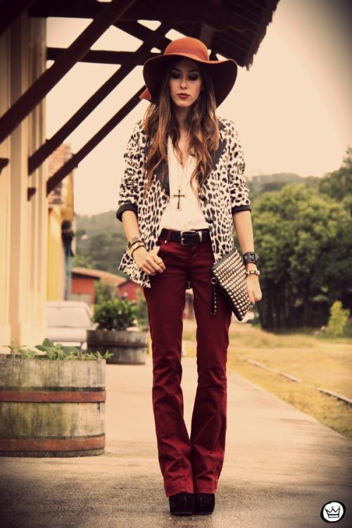 FashionCoolture - 13.04.2013 look du jour Charry blazer leopard calça  Marisa Asos (7 987dcf05833