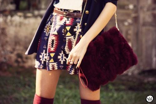 FashionCoolture - 18.04.2013 look du jour Awwdore pattern burgundy hat Asos (3)