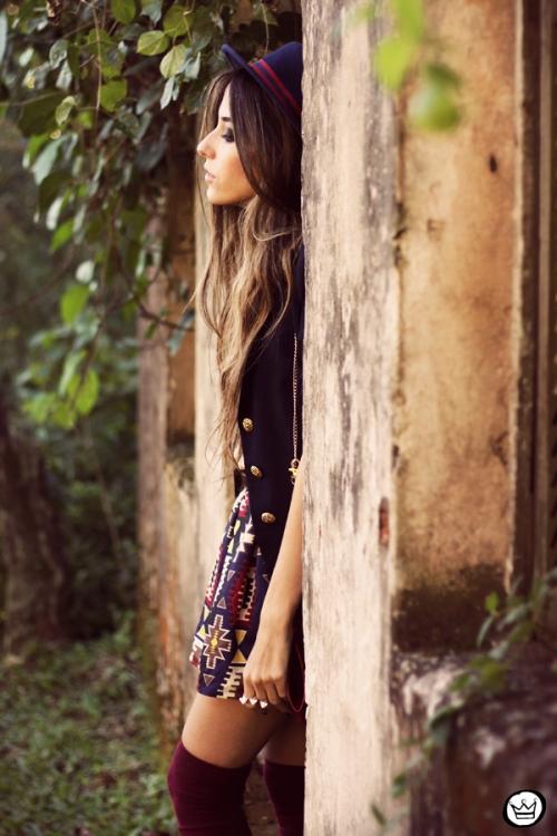 FashionCoolture - 18.04.2013 look du jour Awwdore pattern burgundy hat Asos (6)