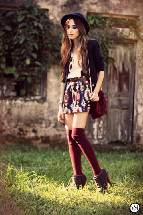 FashionCoolture - 18.04.2013 look du jour Awwdore pattern burgundy hat Asos (8)