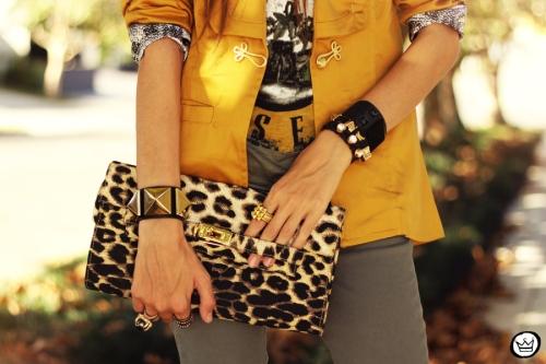 FashionCoolture - 26.04.2013 look du jour Charry green tshirt Asos leopard blzer (3)