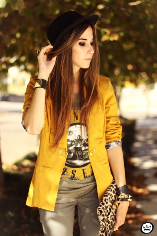 FashionCoolture - 26.04.2013 look du jour Charry green tshirt Asos leopard blzer (4)