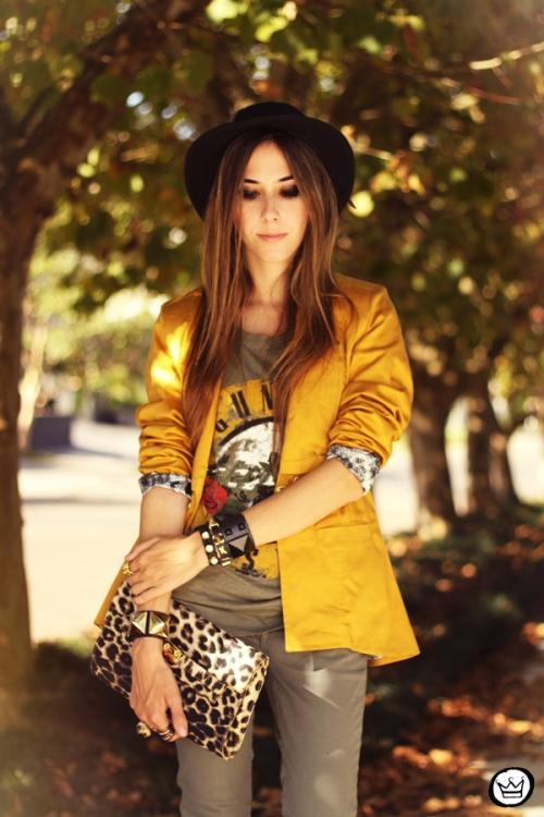 FashionCoolture - 26.04.2013 look du jour Charry green tshirt Asos leopard blzer (6)