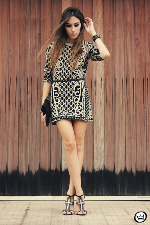 FashionCoolture - 29.04.2013 look du jour Romwe  dress barroque Schutz (1)