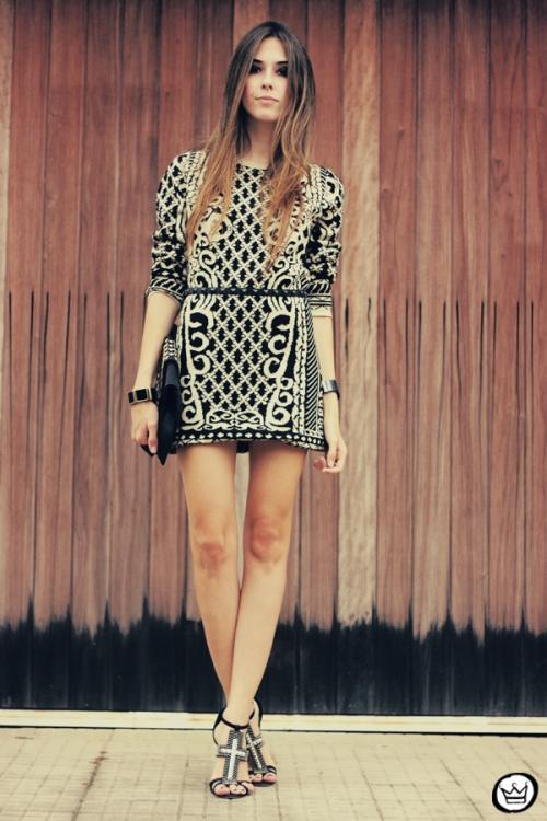 FashionCoolture - 29.04.2013 look du jour Romwe  dress barroque Schutz (7)