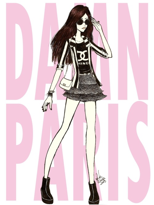 FashionCoolture drawing Damn Paris