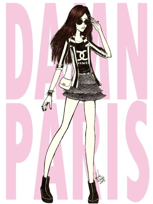 FashionCoolture drawing Damn Paris