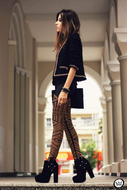 FashionCoolture - 02.05.2013 look du jour legging Labellamafia black (4)