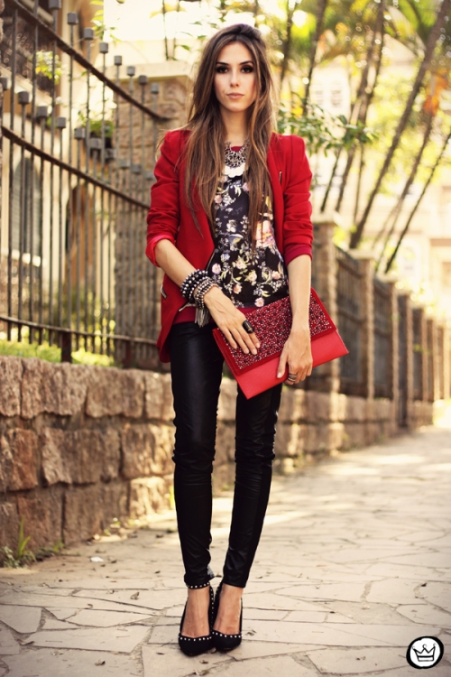 FashionCoolture - 03.05.2013 look du jour Damyller legging Asos jumper red (1)