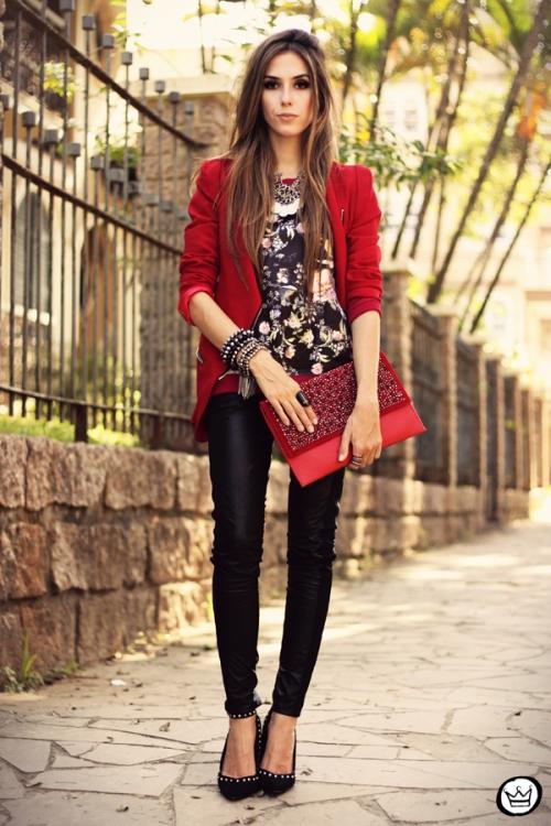 FashionCoolture - 03.05.2013 look du jour Damyller legging Asos jumper red (1)