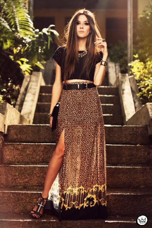 FashionCoolture - 14.05.2013 look du jour My Philosophy skirt onça leopardo Santafina Schutz (4)