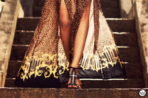 FashionCoolture - 14.05.2013 look du jour My Philosophy skirt onça leopardo Santafina Schutz (5)
