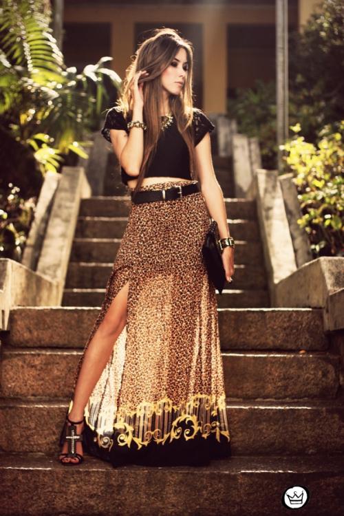 FashionCoolture - 14.05.2013 look du jour My Philosophy skirt onça leopardo Santafina Schutz (7)