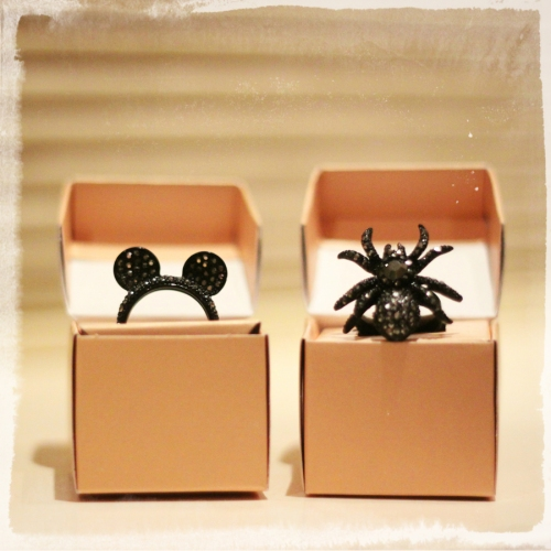 FashionCoolture rings MiniMinou spider Mickey