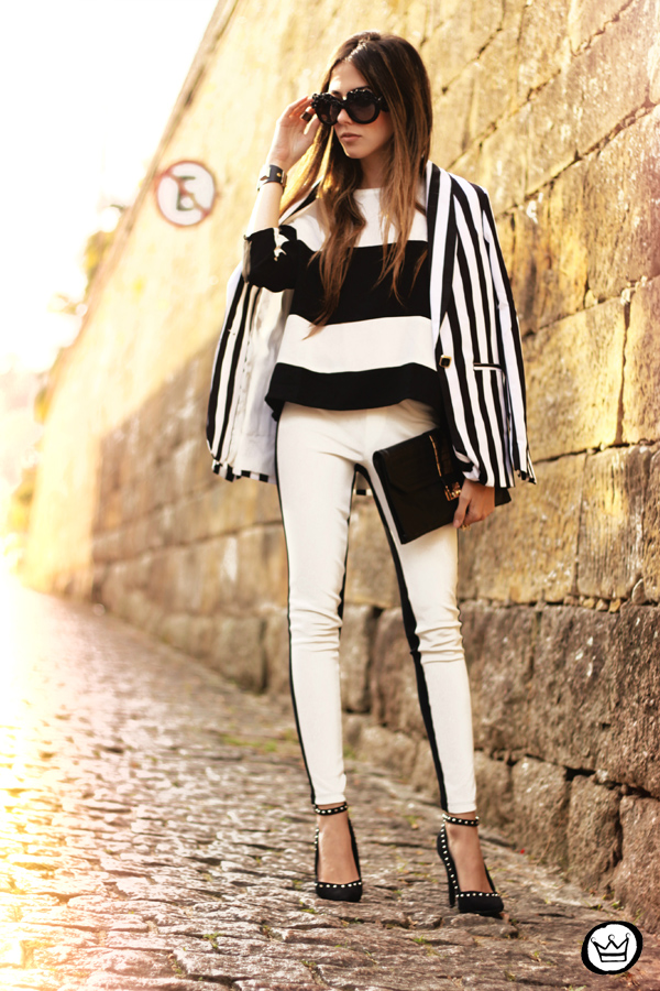 FashionCoolture - 11.06.2013 look du jour Labellamafia legging stripes Romwe Asos (1)