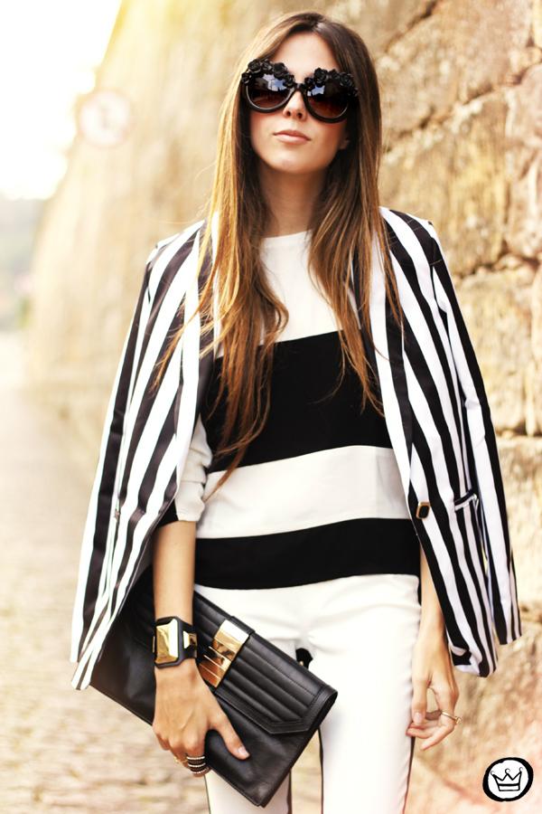 FashionCoolture - 11.06.2013 look du jour Labellamafia legging stripes Romwe Asos (2)