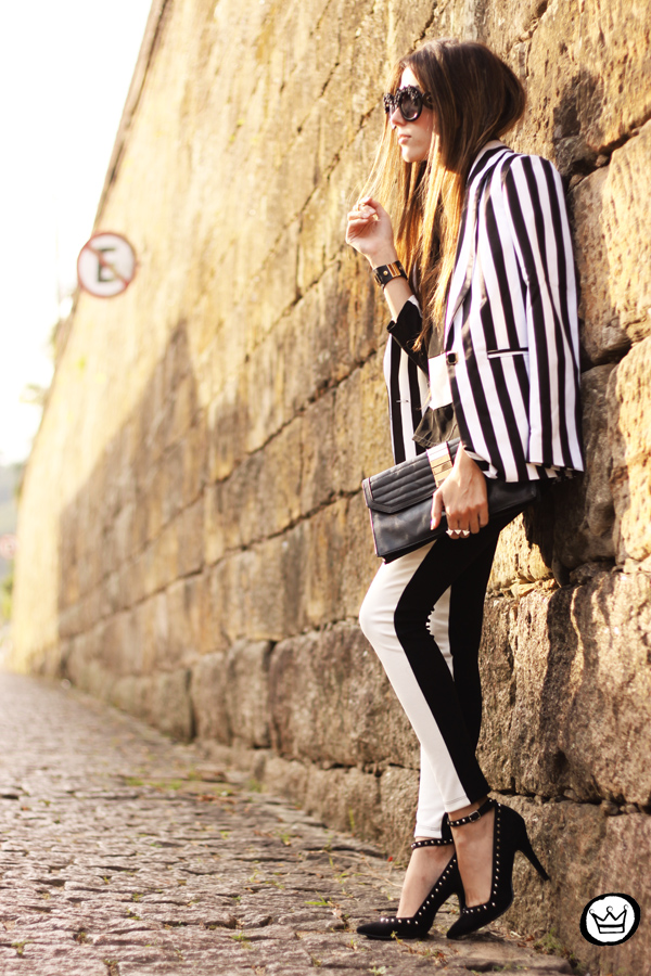 FashionCoolture - 11.06.2013 look du jour Labellamafia legging stripes Romwe Asos (4)