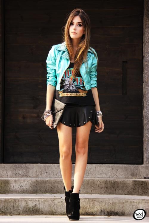 FashionCoolture - 25.06.2013 look du jour Labellamafia jacket spikes (1)