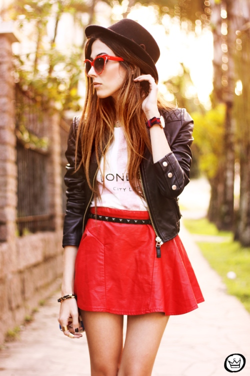 FashionCoolture - 27.06.2013 look du jour Awwdore leather red outfit (7)