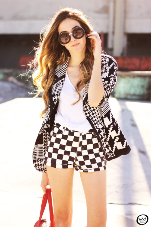 FashionCoolture - 06.07.2013 look du jour Le Charme black & white YOU K (2)
