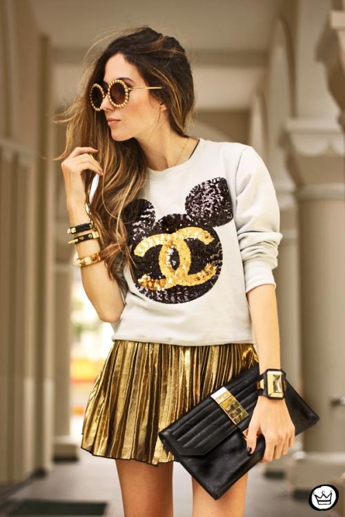 FashionCoolture - 19.08.2013 look du jour Ohkei moletom sequins jumper golden (2)