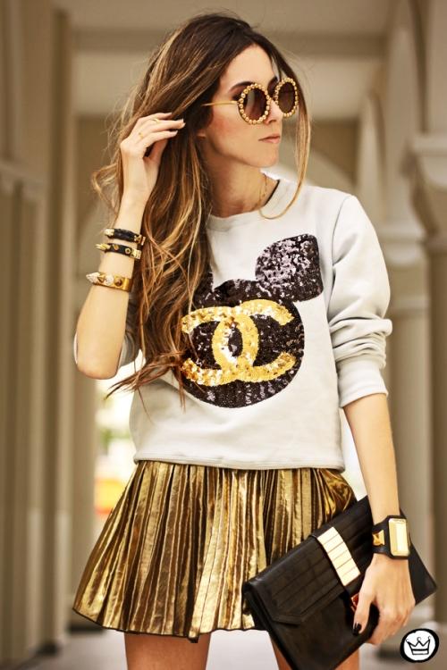 FashionCoolture - 19.08.2013 look du jour Ohkei moletom sequins jumper golden (6)