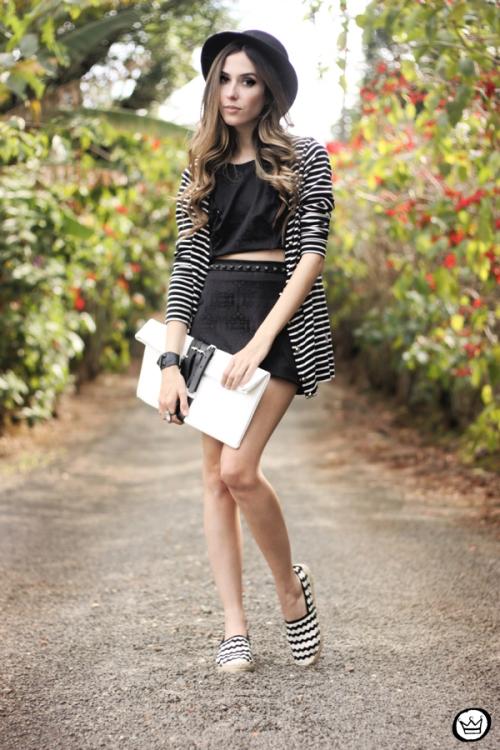 FashionCoolture - 31.08.2013 look du jour Chamelle conjunto listras (1)