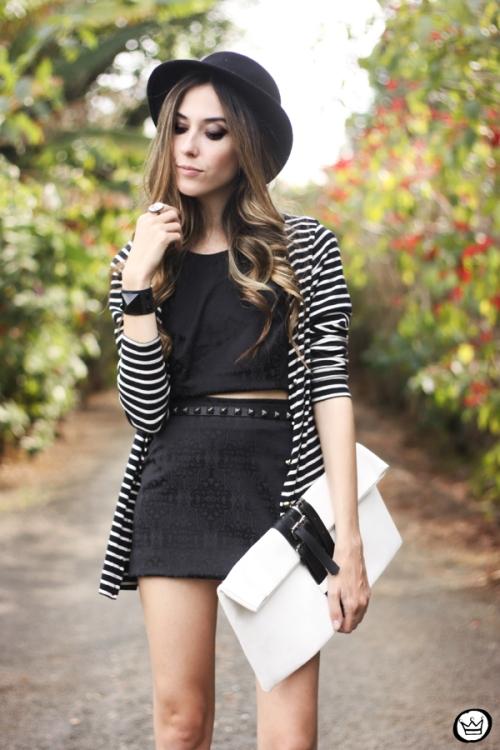 FashionCoolture - 31.08.2013 look du jour Chamelle conjunto listras (2)