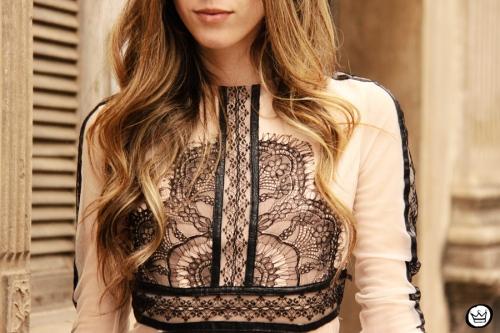 FashionCoolture - 23.09.2013 look du jour lace dress Choies (3)