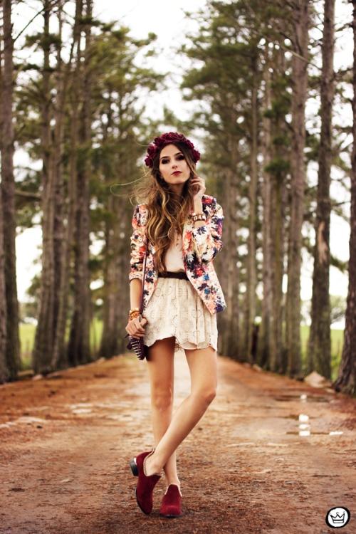 FashionCoolture - 24.09.2013 look du jour Vateno floral blazer (1)